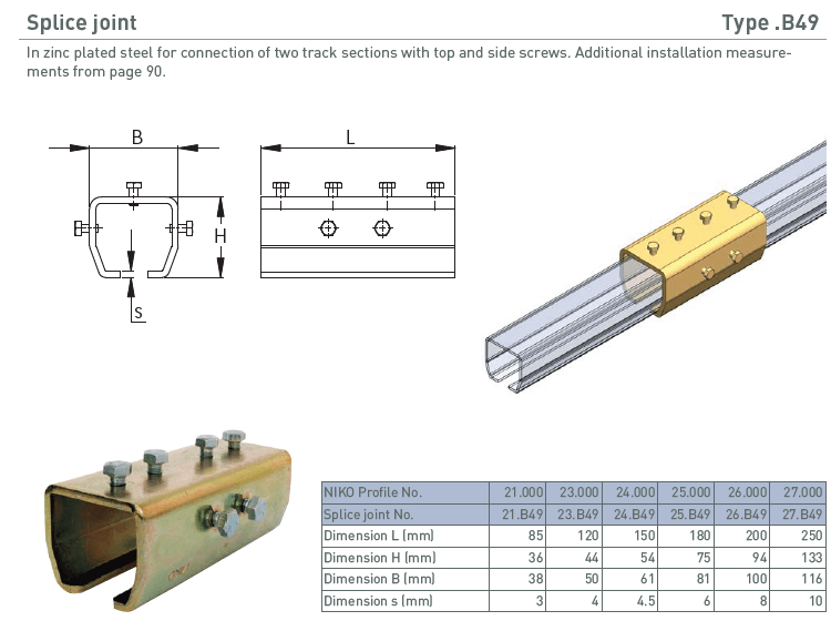 afbeelding met afmetingen en maatvoering van NIKO Helm Hellas product type B49