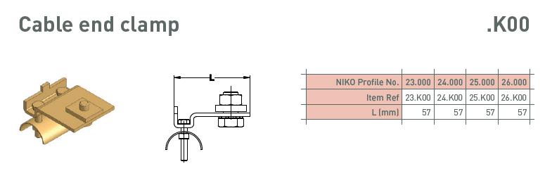 afbeelding met afmetingen en maatvoering van NIKO Helm Hellas product type K00