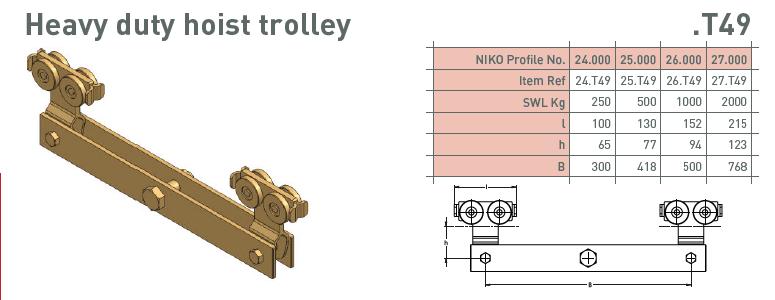 afbeelding met afmetingen en maatvoering van NIKO Helm Hellas product type T49