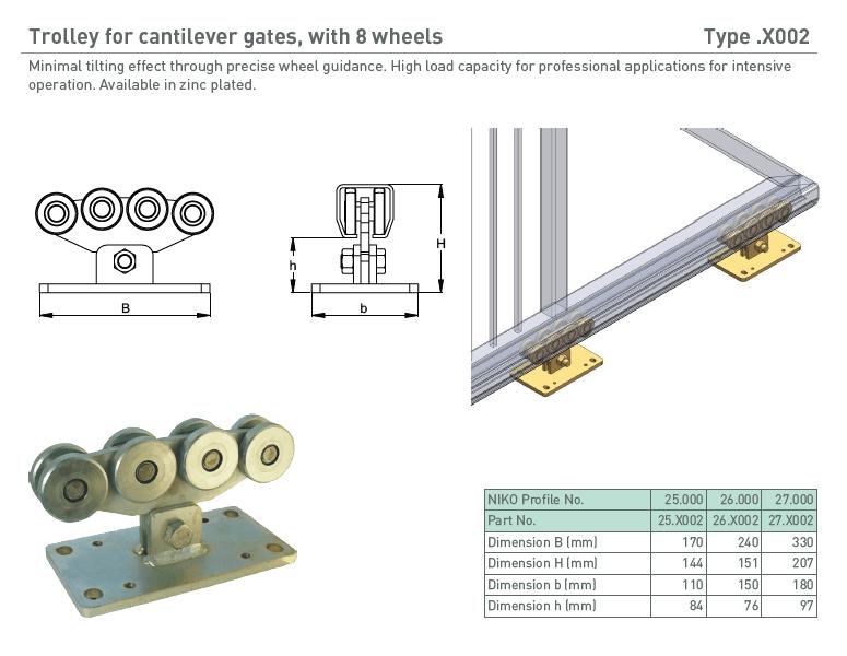 afbeelding met afmetingen en maatvoering van NIKO Helm Hellas product type X002