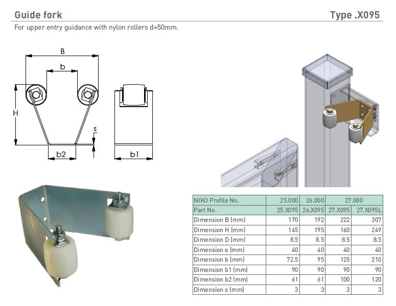 afbeelding met afmetingen en maatvoering van NIKO Helm Hellas product type X095