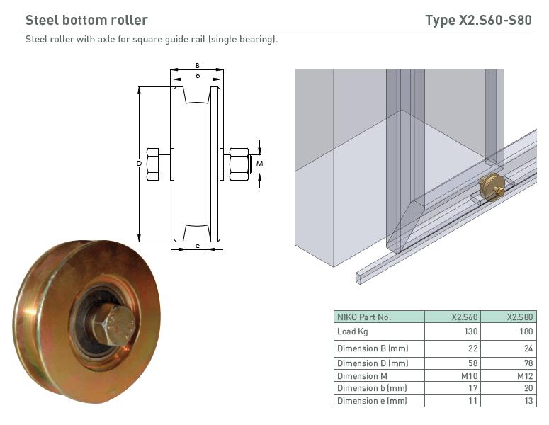 afbeelding met afmetingen en maatvoering van NIKO Helm Hellas product type X2.S60