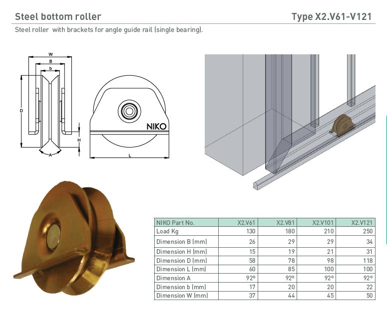 afbeelding met afmetingen en maatvoering van NIKO Helm Hellas product type X2.V61