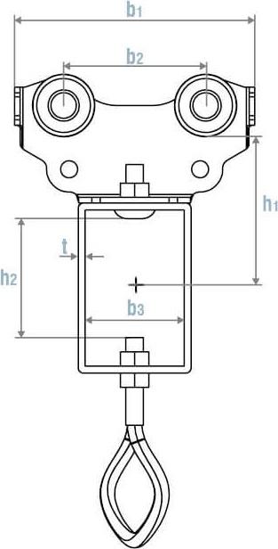 afbeelding met afmetingen en maatvoering van VASEL ELECTROMECHANICS product type VS1014M-16 (INOX)